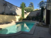Montelimar - The pool in the evening